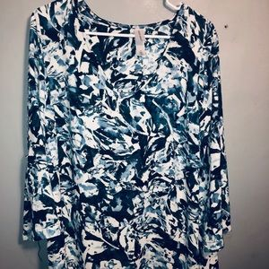 Pure Energy long floral tunic top